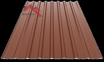 Профнастил пс-20 глянцевый 8017 шоколад