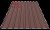 Профнастил пс-20 матовый коричневый 8017