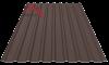 Профнастил пс-20 матовый 8019 темно коричневый