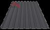 Профнастил пс-20 матовый черный 9005