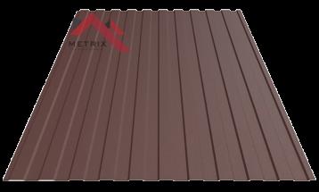 Профнастил пс-8 8017 коричневый матовый