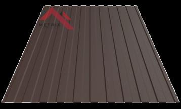 Профнастил пс-8 8019 темно коричневый матовый