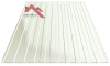 Профнастил пс-8 9003 белый глянцевый