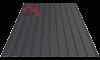 Профнастил пс-8 9005 черный матовый