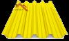 профнастил Н-60 глянцевый желтый 1003