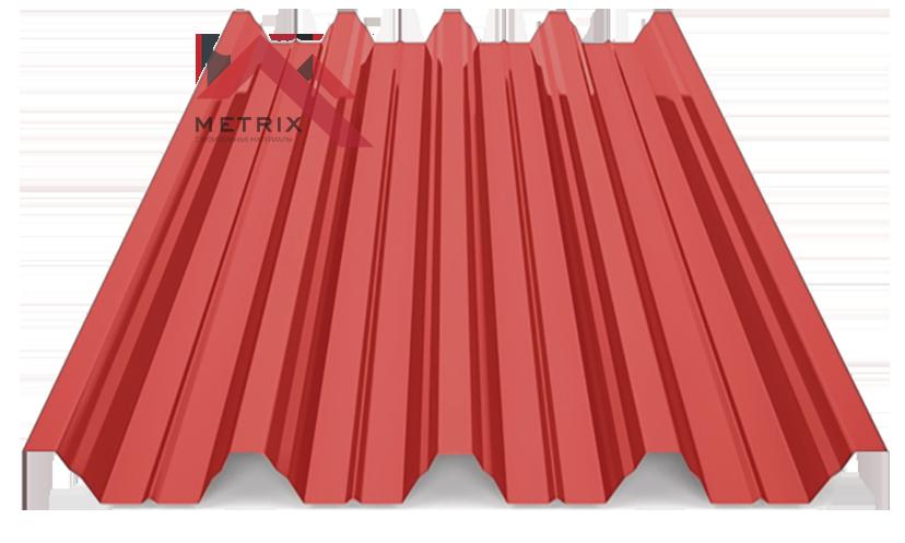 профнастил Н-60 глянцевый ярко красный 3011