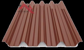 профнастил Н-60 глянцевый коричневый 8017