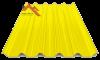 профнастил пк-45 глянцевый желтый 1003