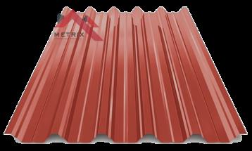 профнастил пк-45 глянцевый красно-коричневый 3009