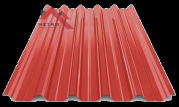 профнастил пк-45 глянцевый ярко-красный 3011