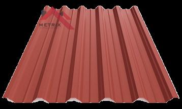 профнастил пк-45 матовый ярко-красный 3011