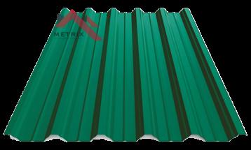 профнастил пк-45 матовый ярко-зеленый 6005