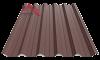 профнастил пк-45 матовый коричневый 8017