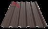 профнастил пк-45 матовый темно-коричневый 8019