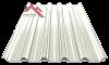 профнастил пк-45 глянцевый белый 9003