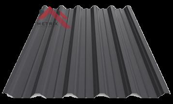 профнастил пк-45 матовый черный 9005