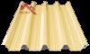 профнастил пк-57 глянцевый слоновая кость 1015