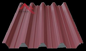 профнастил пк-57 матовый гнилая вишня 3005