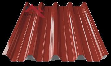 профнастил пк-57 глянцевый красно-коричневый 3009