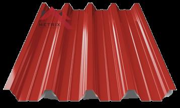 профнастил пк-57 глянцевый ярко красный 3011