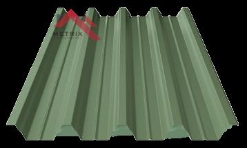 профнастил пк-57 матовый темно зеленый 6020