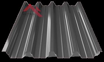 профнастил пк-57 глянцевый темно серый 7024