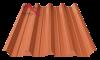 профнастил пк-57 матовый глиняный 8004