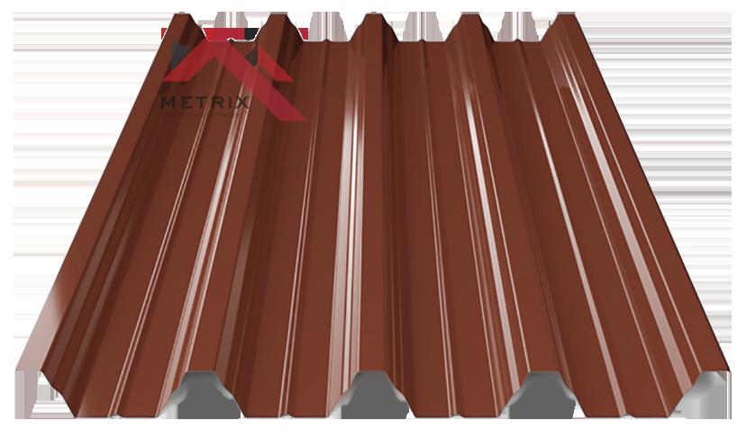 профнастил пк-57 глянцевый молочно шоколадный 8017