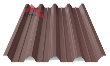 профнастил пк-57 матовый коричневый 8017