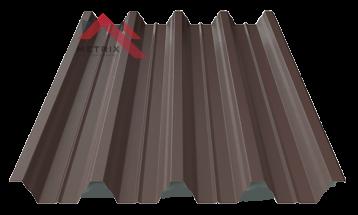 профнастил пк-57 матовый темно коричневый